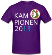 Mediterranean FC 2013 champions shirt