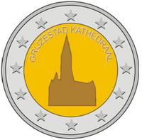 Grijzestad cathedral 2 euro 2014