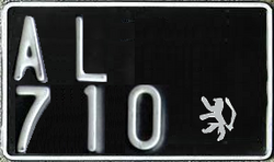 1940s license plate