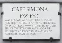 Cafe Simona plaque