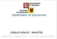 Gerald Henley business card