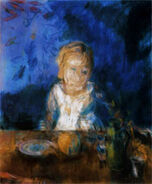 Young Girl at a Table