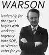 Warson election poster