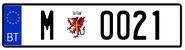 Royal guard license plate