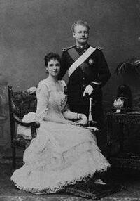 Pieter II and Queen Sophie