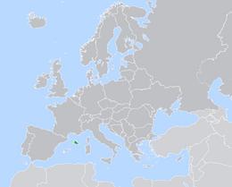 Europe map Brunant