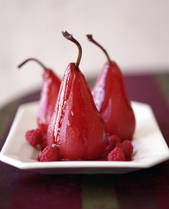 Poached pears red wine