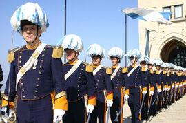 Royal Grenadiers on parade
