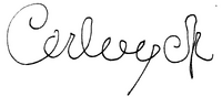 Karl I signature