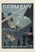 Planes vintage poster germany