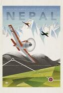 Planes vintage poster nepal