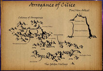 Arrogance of Cilice surface map