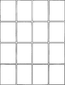 art history flashcard template