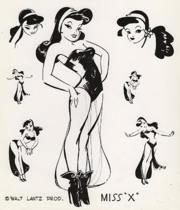 Miss X model sheet