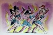 Aladdin harem girls concept art