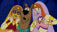 Scooby and girls scared