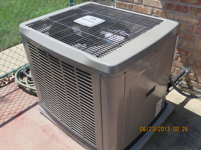 File:Condenser unit for central air conditioning.jpg