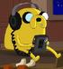 Jake słucha muzyki