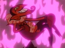 On pośród płomieni