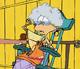 Chudy Edd jako babcia