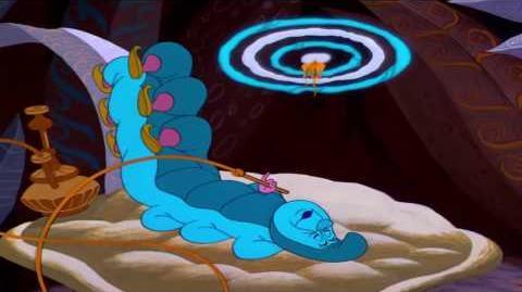 Alice Meets The caterpillar - Alice In Wonderland (1951)