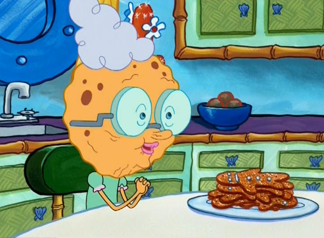 Hasil gambar untuk grandmother spongebob