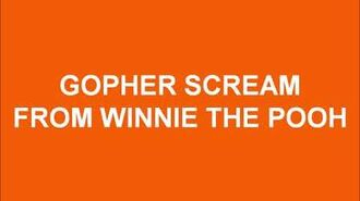 Gopher Scream From Winnie The Pooh Sound Effects (Nick Judy Style)