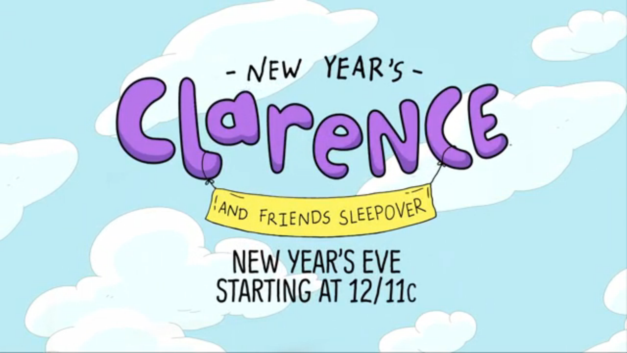 new year s clarence and friends sleepover the cartoon network wiki