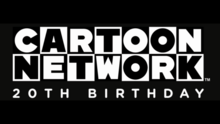 Cartoon Network's 20th Birthday Party title card