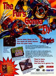 Swat Kats Radical Squadron SNES Nintendo game print ad NickMag Aug 1995