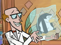 Scientist with the ice