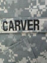 Carver Nametape