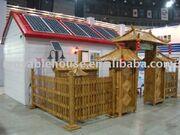Prefab house with solar panels