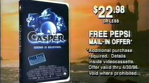 Casper movie on VHS commercial (1995)