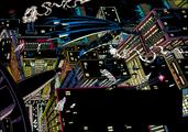 GothamSkylineBatLine