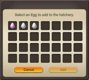 Interface - Add Egg