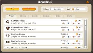 Interface - Equipment Store