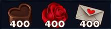 400 Valentines Materials