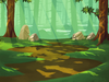 Battle Background Forest Warmer Colors