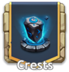 Crests button