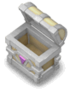 Silver open chest