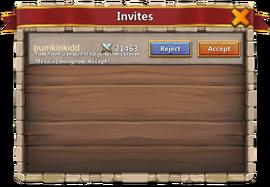 Team invitations