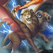 Monster demon chimera of lightning