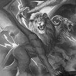 Monster demon chimera of lightning dead