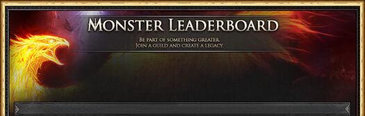 Monster Leaderboard header