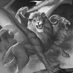 Monster demon chimera of earth dead