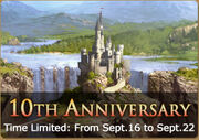 Anniversary banner for web