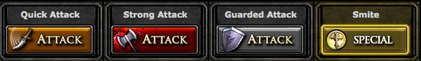Dungeon attack types