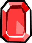 Square Red Gem