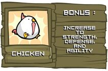 Chicken from Castle Crashers